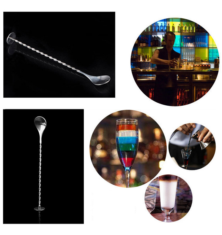 New Stainless Steel Threaded Bar Spoon